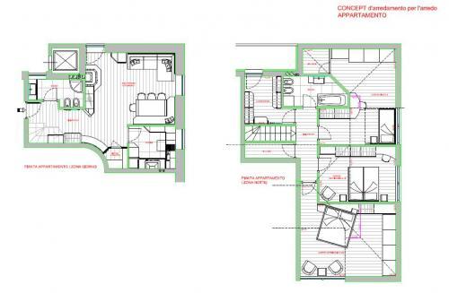 Pra del gal cavalese centro appartamento su due piani for Piani di garage del granaio